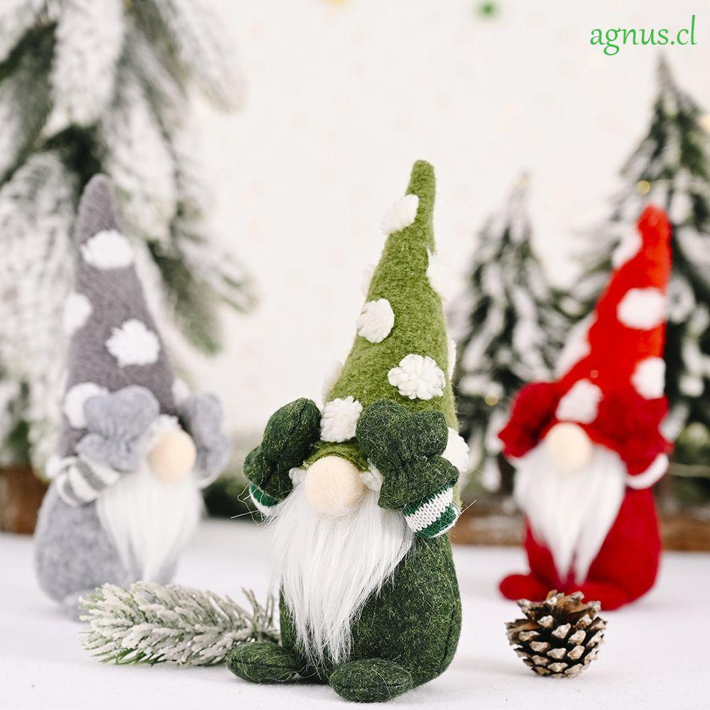 AGNUS Cloth Christmas Decoration Tabletop Figurines Christmas ...